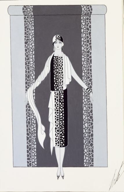 Romain de Tirtoff dit Erté, Dress, 1928