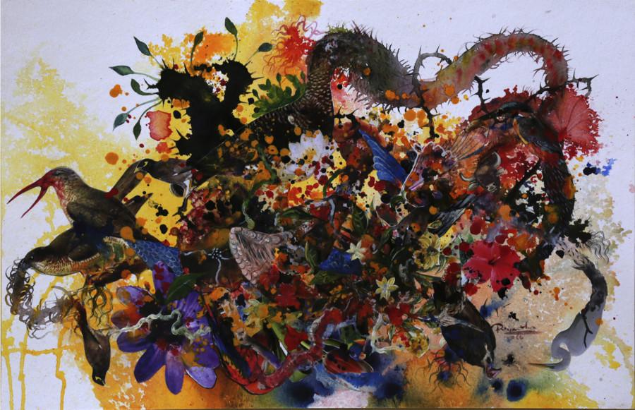 Priyantha Udagedara, Garden of Earthly Delight X, 2016
