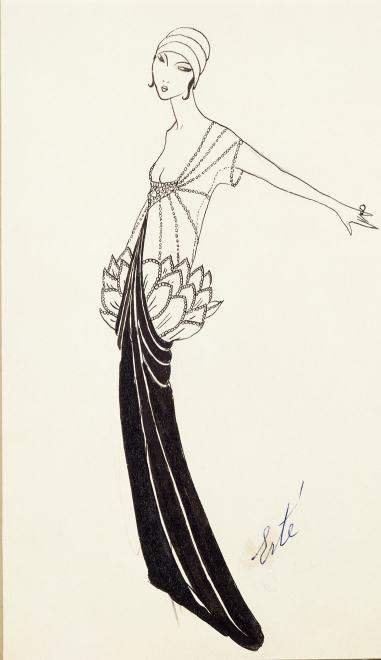 Romain de Tirtoff dit Erté, Evening Dress, 1914