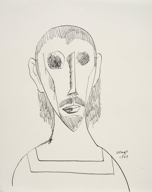 Francis Newton Souza, Untitled (Head of a Saint), 1949