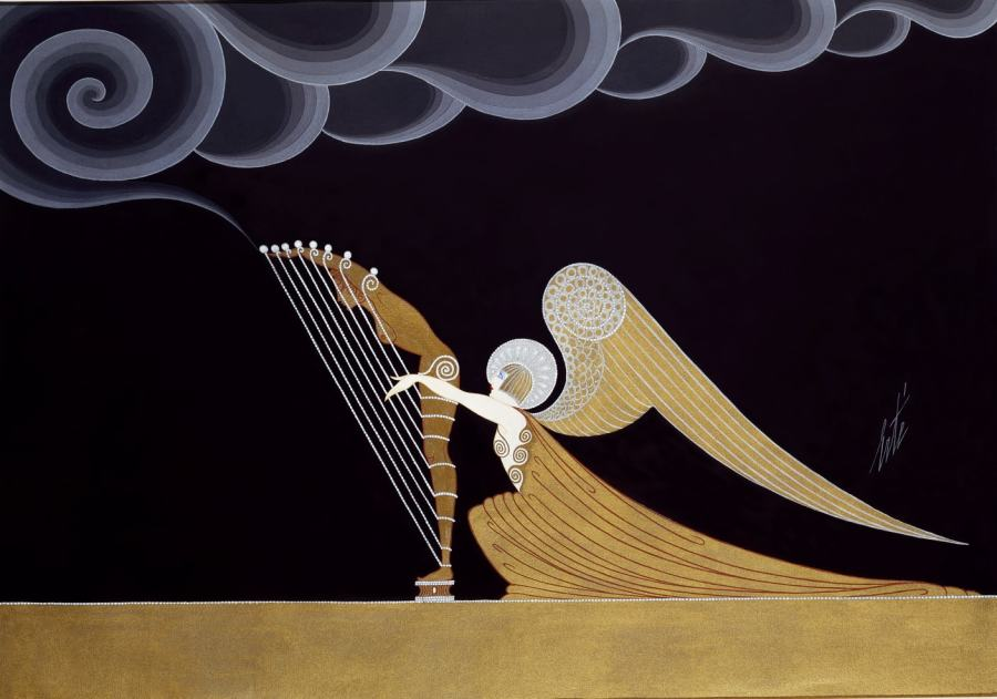 Romain de Tirtoff dit Erté, Angel harpist for Blues, 1926