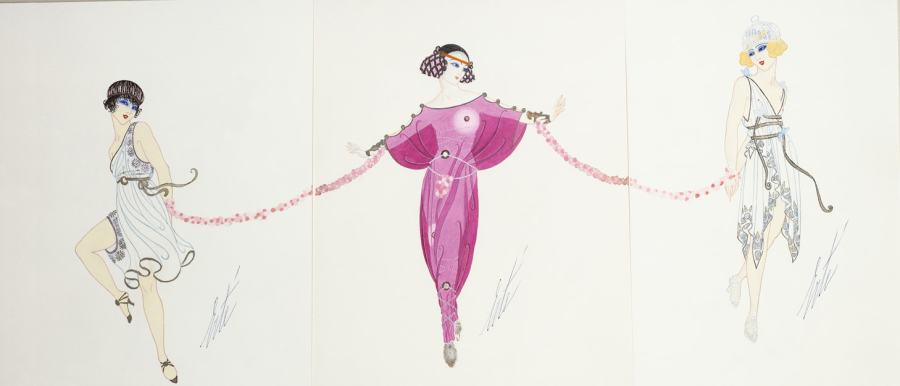 Romain de Tirtoff dit Erté, Princess Aline, Mirabelle and Galatee for Les Rois des Legendes, 1919