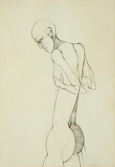 Dumile Feni, Standing Nude, 1969