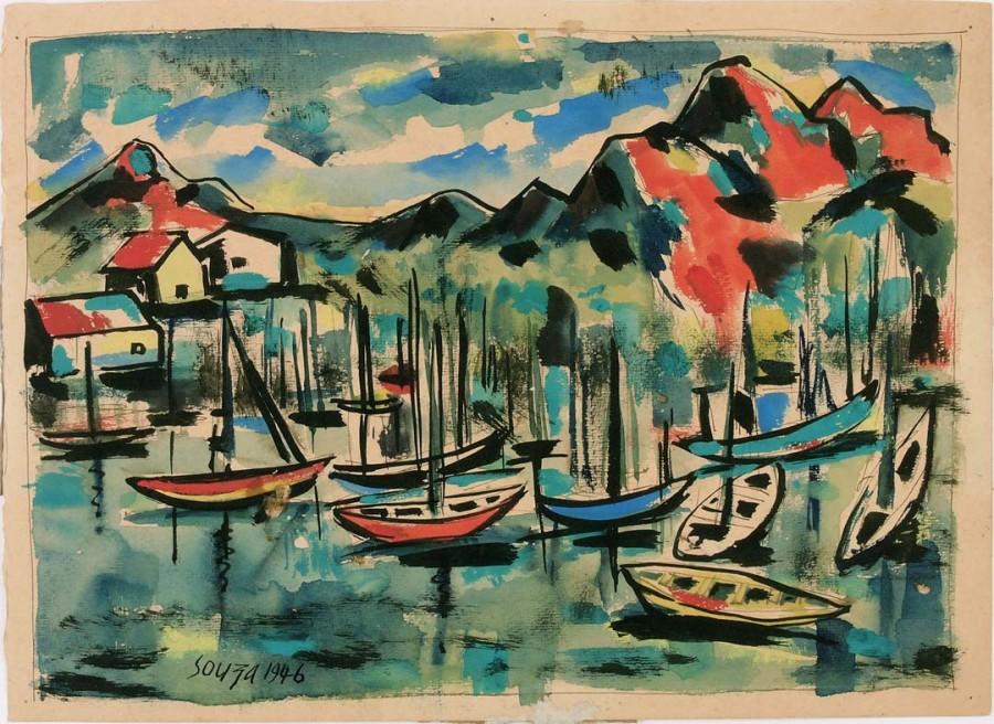 Francis Newton Souza, Untitled, (Harbour Goa), 1946
