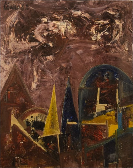 Lancelot Ribeiro, Landscape with Spires, 1962