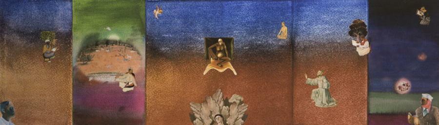 Gulammohammed Sheikh, Thinking of Bhupen – I/6, 2015