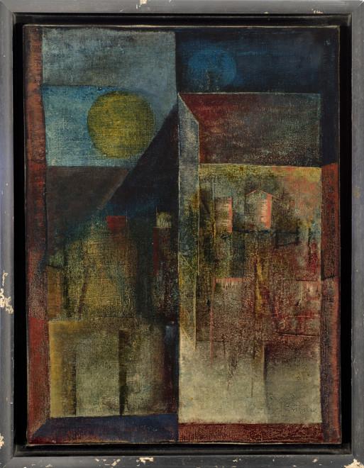 Sadanand K. Bakre, Untitled (Landscape), 1968