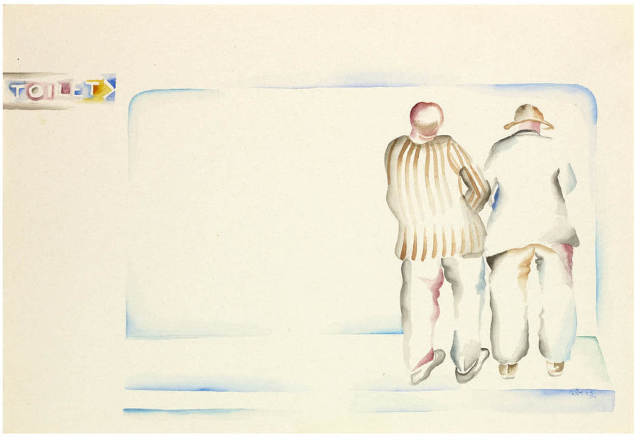Bhupen Khakhar, Two Men in a Toilet, 1979