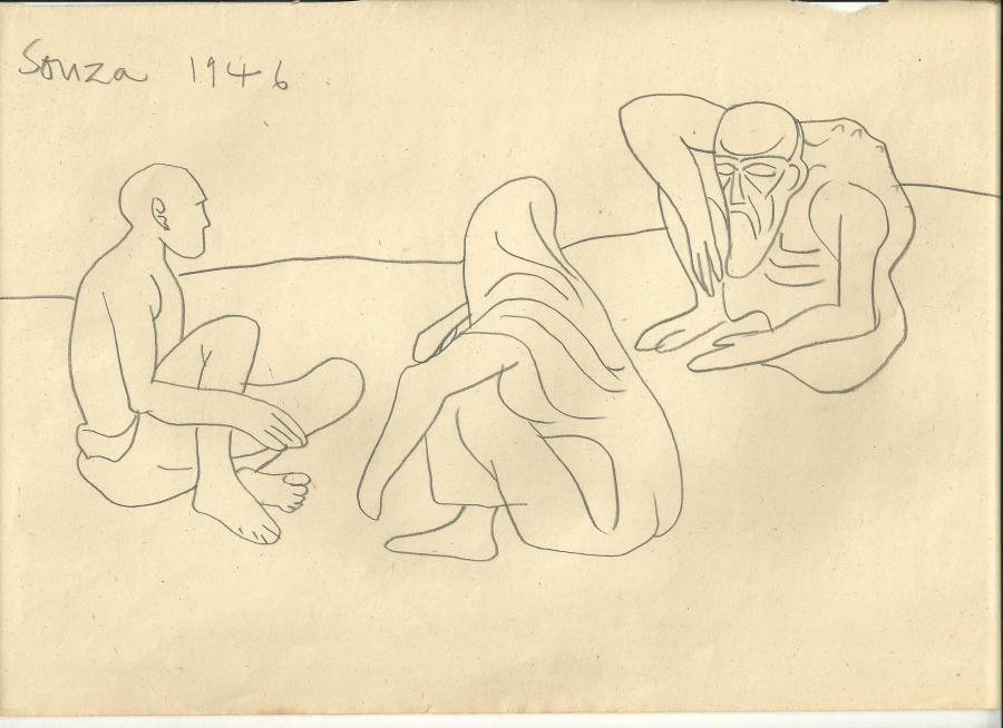 Francis Newton Souza, Untitled (Beggars), 1946