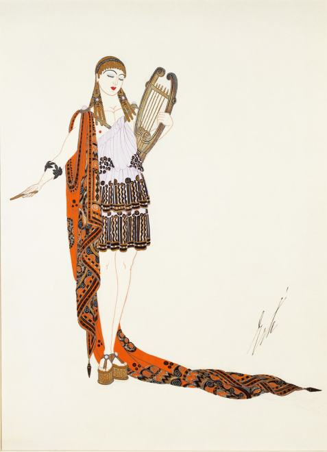 Romain de Tirtoff dit Erté, Apollo costume for the American film Restless Sex,, 1919