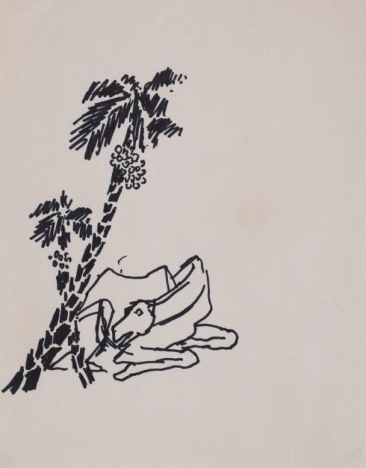 Maqbool Fida Husain, Untitled (Camel)