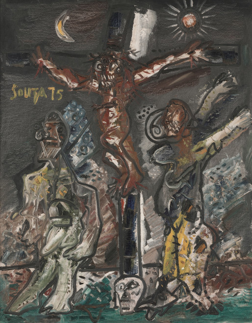 Francis Newton Souza, Crucifixion, 1975