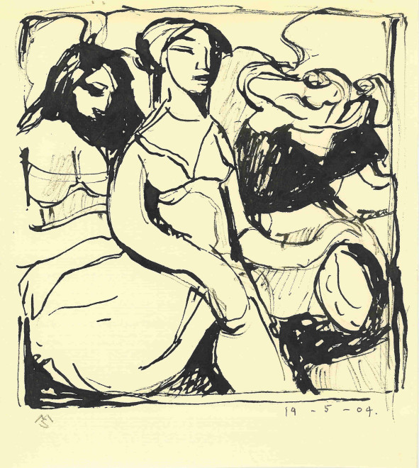 Mark Shields, Study for the Women of Izvor, 2004