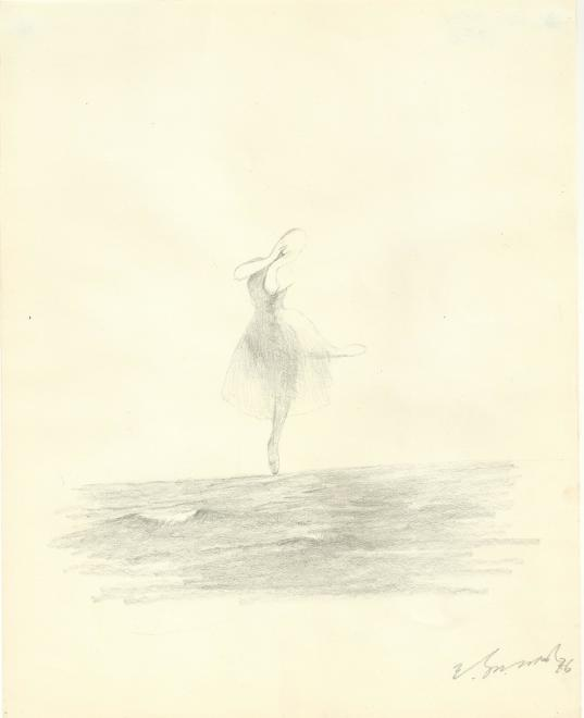 Yashwant Mali, Untitled (Ballet on the Sea series), 1976