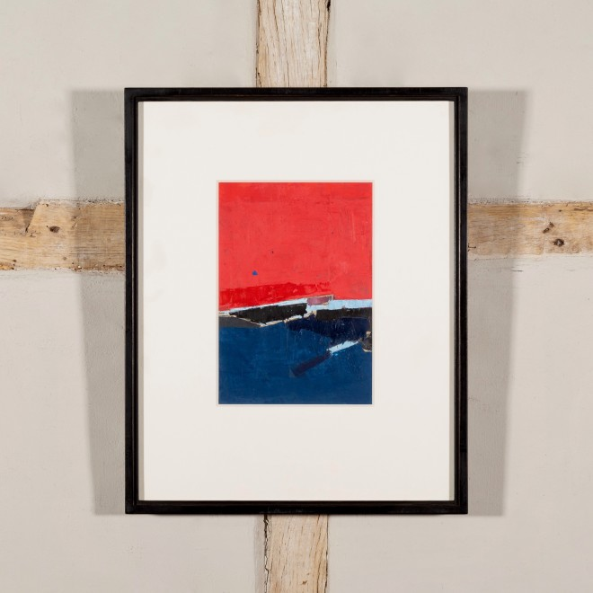 Untitled (Red Over Blue)