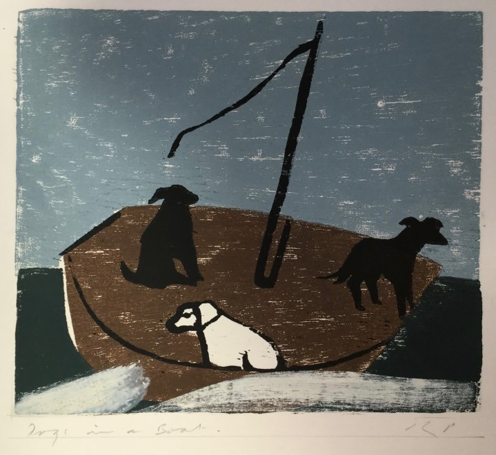 Dogs in a Boat (Long Wave)