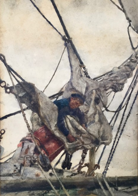Stowing the Head Sails