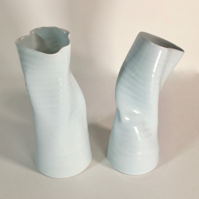 Two twisted vases