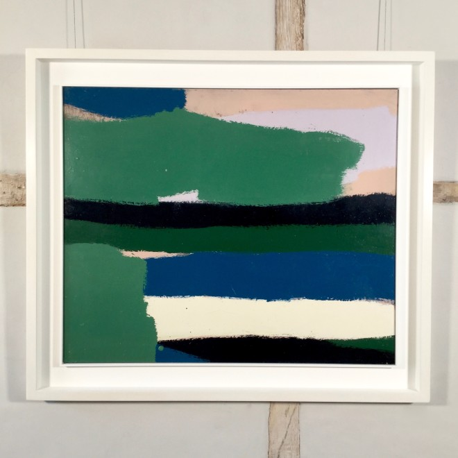 Untitled #2 (Green and Black Stripes)