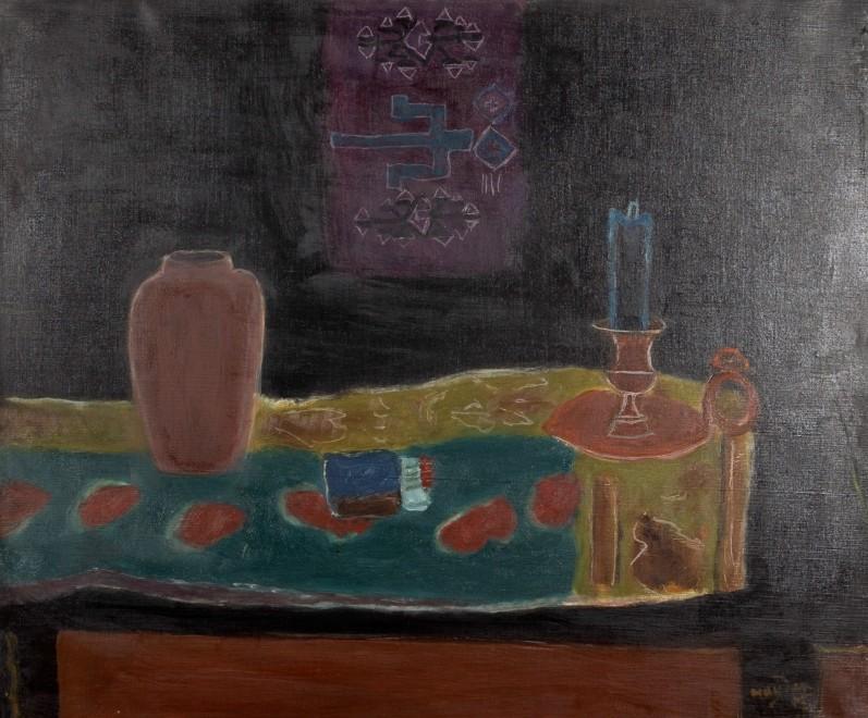 Nature morte au bougeoir et au vase (Still life with Candlestick and Vase)