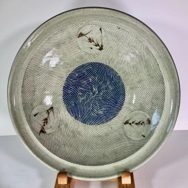 Large thrown open bowl