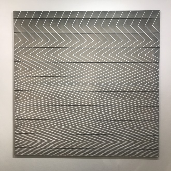 Parallel Black Lines, Moire Painting (ENM 1)
