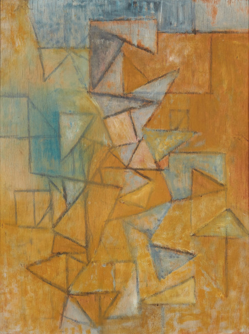 Wendy Pasmore, Untitled (Triangular Composition 2), c 1955