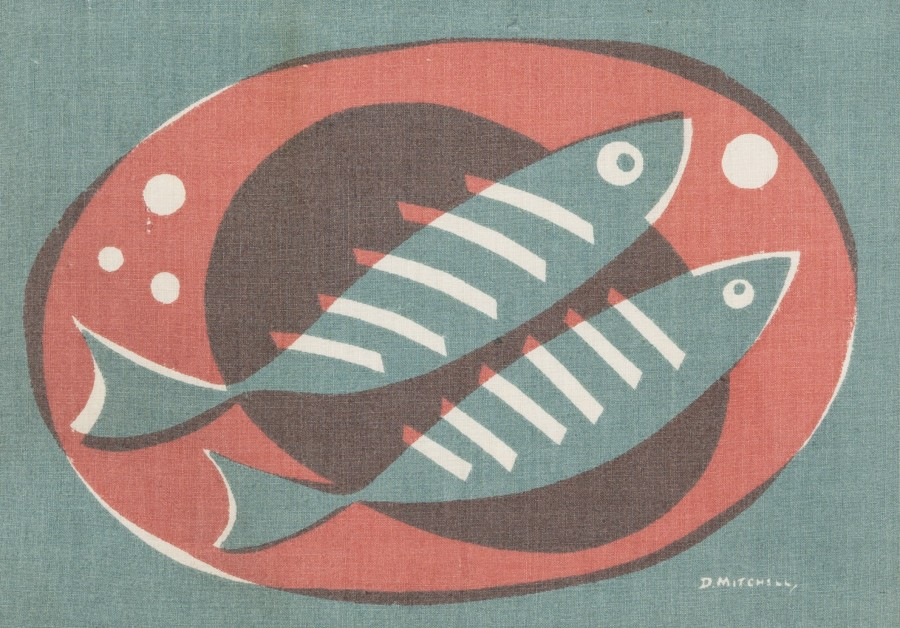 Two Fish on a Plate, from Porthia
