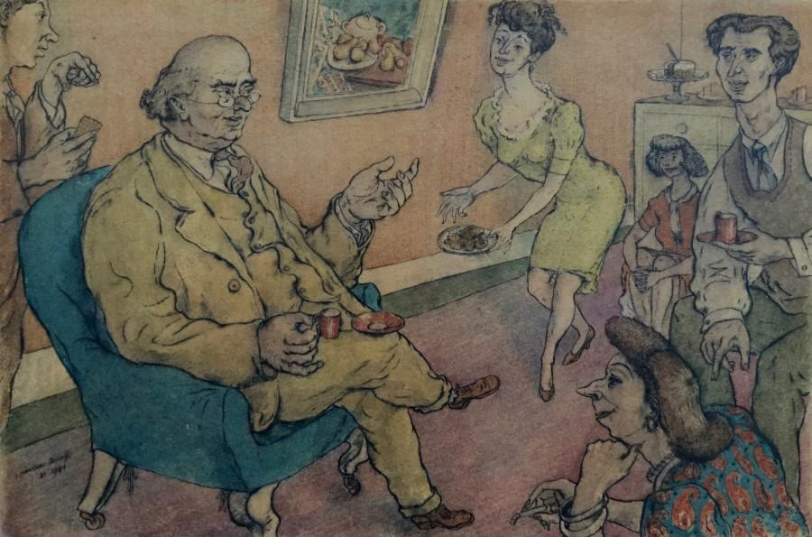 Entertaining the Successful Artist, Chelsea (Barnett Freedman)