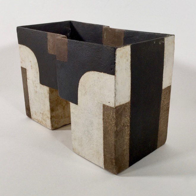 Angular vessel with abstracts II