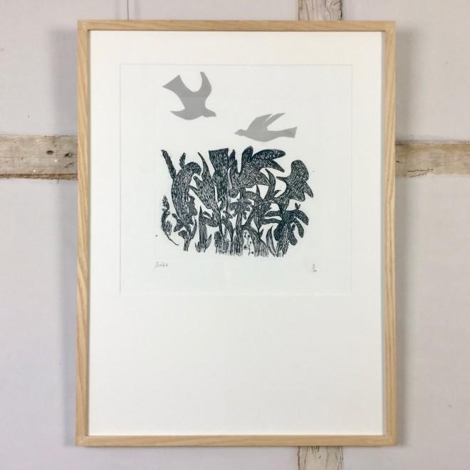 Birds over Wood