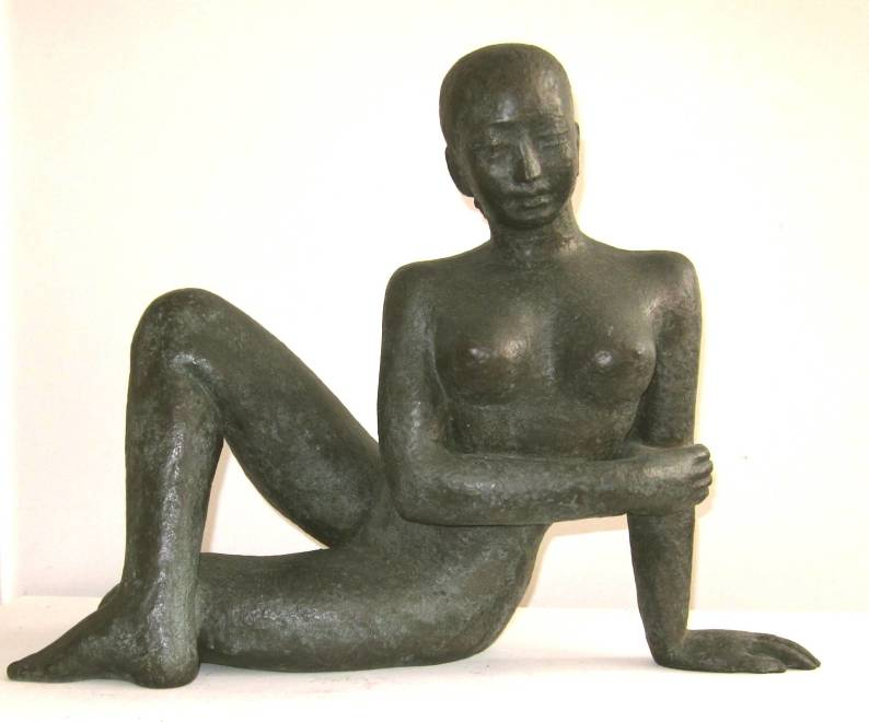 Reclining Girl (Ceylonese or Cingalese Girl)
