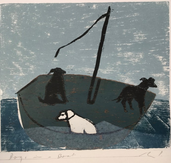 Dogs in a Boat (Green)