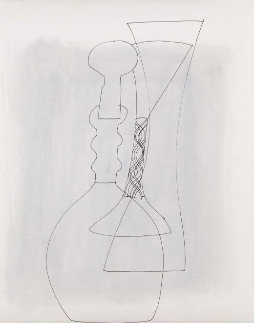 Untitled (Stoppered Vase and Goblet)