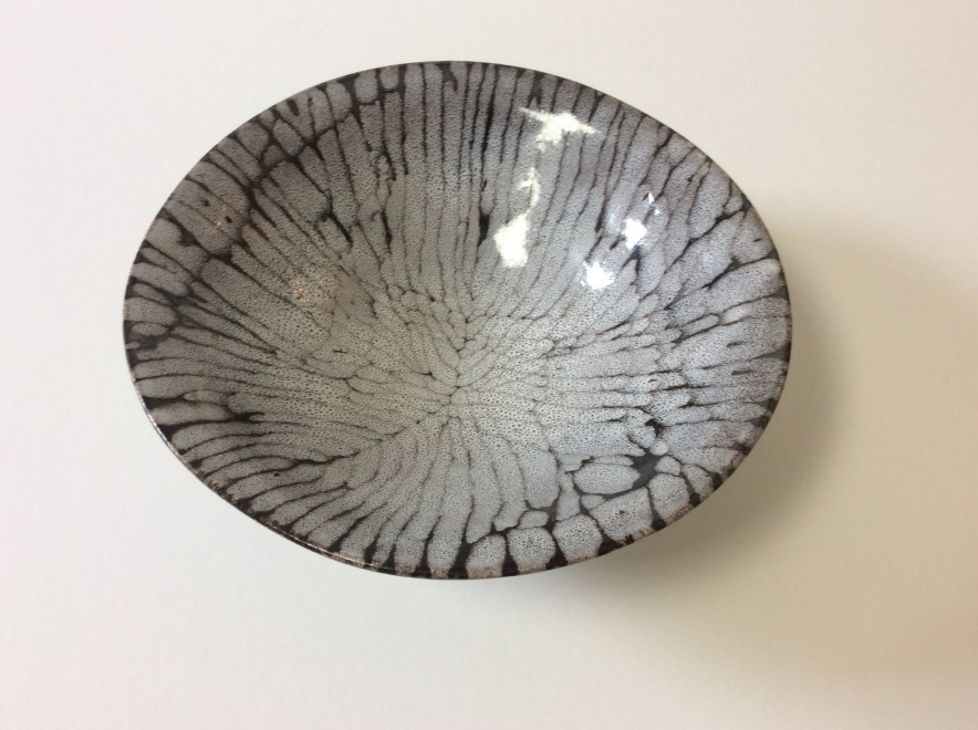 Open bowl with patterning