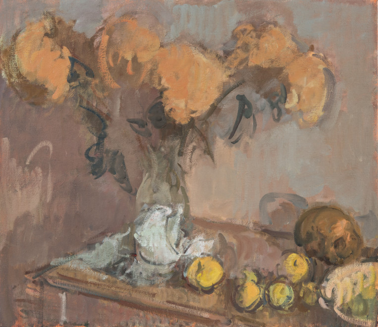Still Life with Quince and Skull