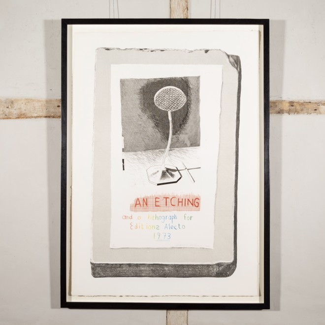 An etching and a lithograph for Editions Alecto