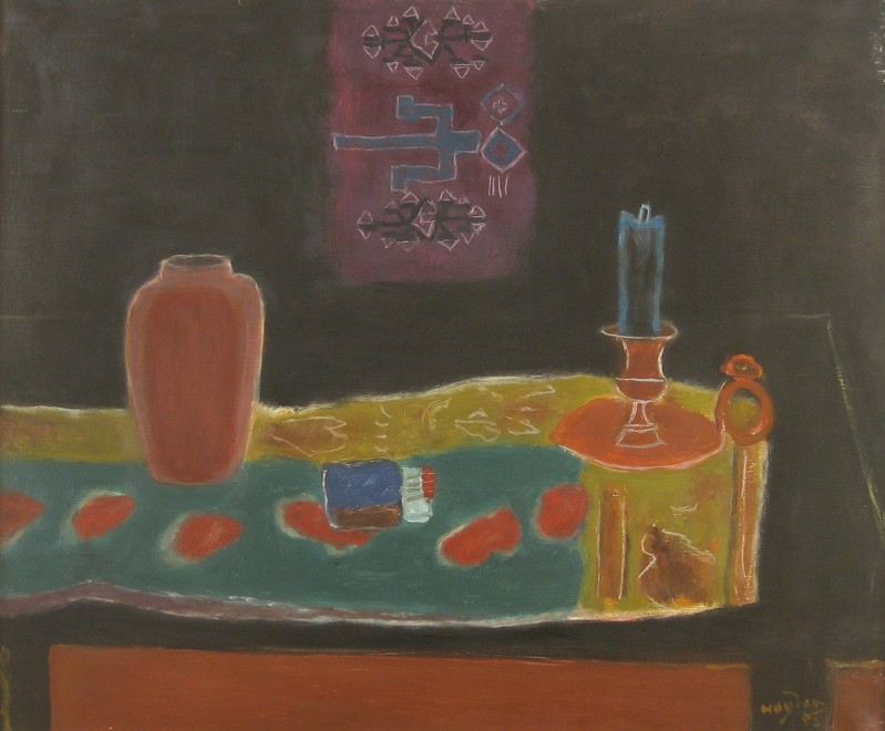 Nature morte au bougeoir et au vase (Still life with Candlestick and Vase)