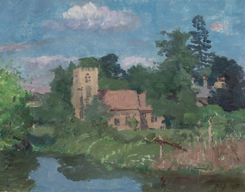 From the Banks of Fairfax Hall by Waters Edge