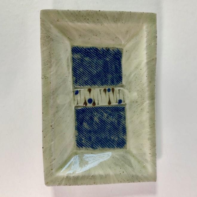 Rectangular plate with inlay