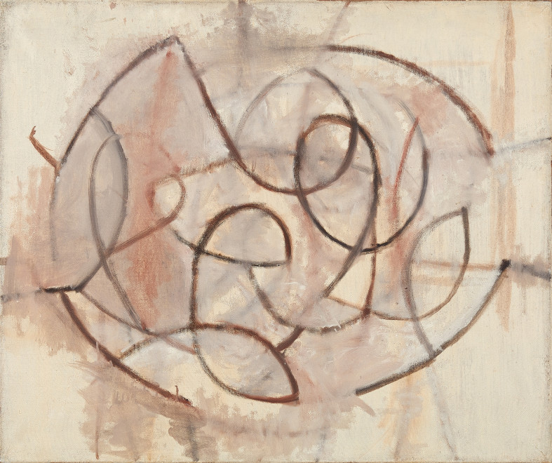 Wendy Pasmore, Linear Motif (Oval), 1957