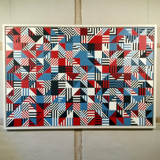 Untitled (Red, Blue, Black)