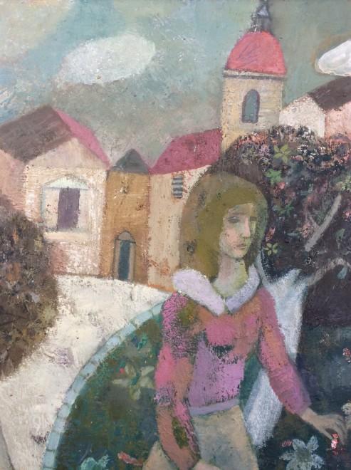 Figure in a Village