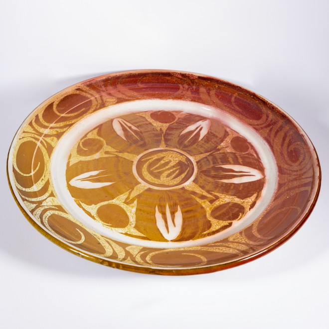 An Aldermaston Pottery charger