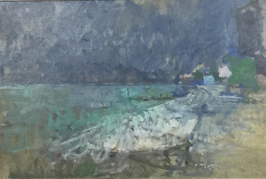 Beach with Dark Sky