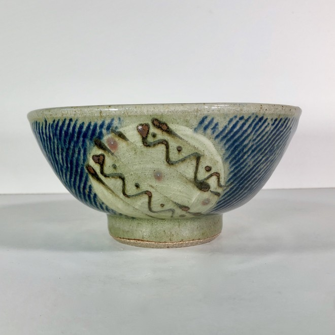 Bowl with inlay (Zigzag)