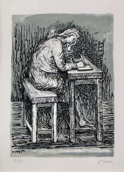 Girl Seated at a Desk VII