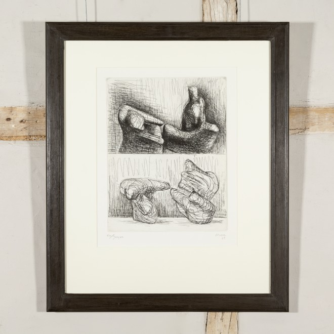 Two Piece Reclining Figures, Points