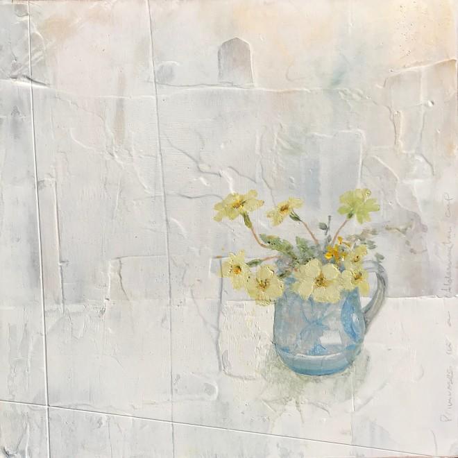 Primroses in a Hazelden Cup