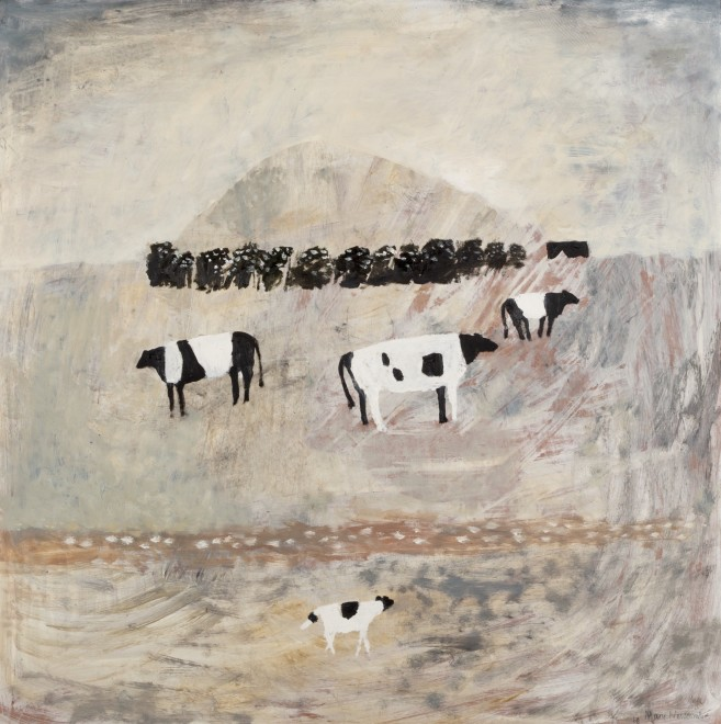 Hill Across the Marsh (Cows)